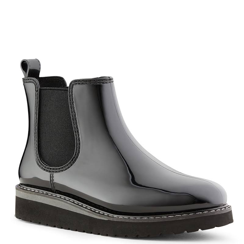 Cougar Kensington Ankle-High Rubber Rain Boot 8M Black/Charcoal