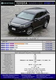lexus harrier new model toyota harrier hybrid destino u0027s export new car