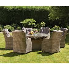 royalcraft wentworth rattan 7pc 6 seater oval dining set with