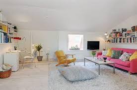 Living Room Design Ideas Apartment Apartment Cozy Small Studio Apartment Interior With Pink