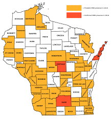 Wisconsin Map With Counties by Newsletter Spotted Wing Drosophila