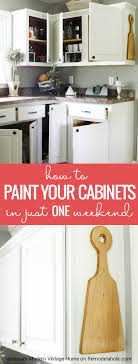 Remodelaholic How To Paint Your Kitchen Cabinets In ONE Weekend - Can you paint your kitchen cabinets