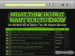 Check out this discussion forum What They Do Not Want You To Know  Maps to