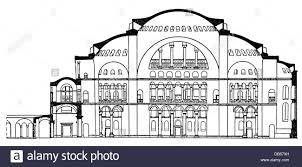architecture ground plans hagia sophia istanbul built 532