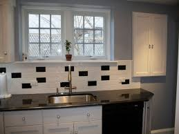 White Subway Tile Backsplash Ideas kitchen classic black and white subway tile backsplash ideas for