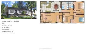 Floor Plans For One Level Homes by Modular Home Ranch Plan 219 2 Jpg