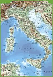 Map Of Italy Regions by Large Physical Map Of Italy