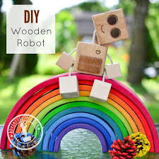 Easy To Make Wood Toy Box by Diy Wooden Robot Buddy Easy Project For Kids