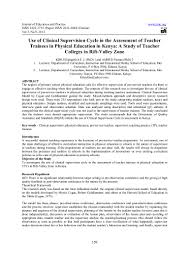 use of clinical supervision cycle in the assessment of teacher