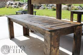 Wooden Bench Plans To Build by Thrifty And Chic Diy Projects And Home Decor