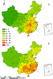 Map Of China Provinces Spatial Patterns Of Ndep In China Kg Ha 1 A 1 Spatial