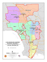 Zip Code Map Of Los Angeles by Lausd Maps Local District Maps 2015 2016