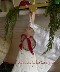 how to make wood slice snowmen ornaments christmas decoration