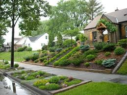 garden rockery ideas landscaping for sloped front yard with steps home pinterest