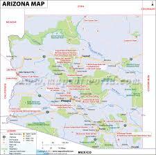 Blank State Map Of Usa by Arizona Map Map Of Arizona Az Map