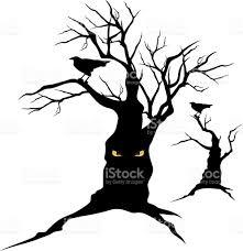 halloween vector art raven and halloween tree stock vector art 577629460 istock