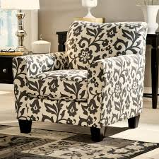 Floral Couches Signature Design By Ashley Levon Charcoal Accent Chair In Floral