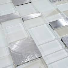 metal and glass tile backsplash cheap brush aluminum tiles crystal