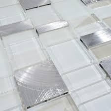 metal and glass tile backsplash cheap brush aluminum tiles crystal