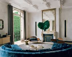 Jewel Tone Living Room Decor The Design Firm U0027s 19th Century Paris Apartment Is Injected With A