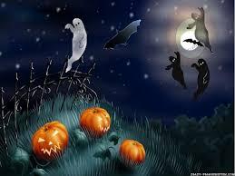 happy halloween hd wallpaper cartoon halloween topic scene by clairev toon vectors eps 38366