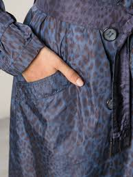 Blue Leopard Print by Allegri Leopard Print Trench Coat In Blue Lyst