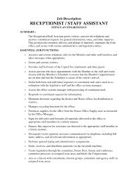 dental assistant resume objective berathencom  unforgettable     Objective Statement For Resume For Receptionist receptionist job  description sample success secretary job description resume