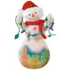 christmas in kansas city plaza lights snowman porcelain ornament