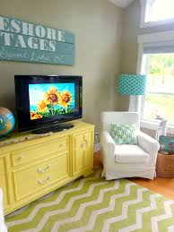 Turquoise Living Room Chair by Living Room With Diy Chalk Paint Media Console And Diy Reclaimed