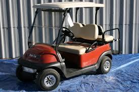 custom cayenne orange with beige club car precedent golf cart 1