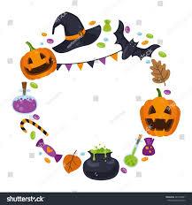 vector wreath icons halloween cartoon style stock vector 487218691