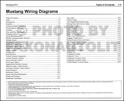 2013 ford mustang wiring diagram manual original