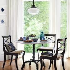 Bistro Table For Kitchen by La Coupole Round Iron Bistro Table With Glass Top Williams Sonoma