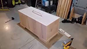 how to build a kids toy box with a drop in lid youtube