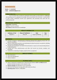 Latest Resume Format Resume For Freshers B Tech Over       CV and Resume Samples with Free Download  B