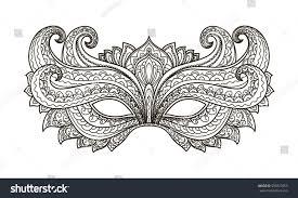 vector illustration contor mask holiday carnival stock vector