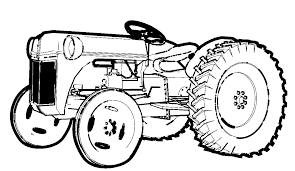 Old Ford Truck Coloring Pages - free printable tractor coloring pages for kids