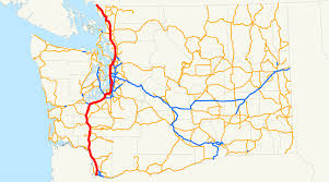 Washington Traffic Map by Interstate 5 In Washington Wikipedia
