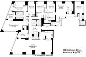 New York Apartments Floor Plans by 200 Chambers Street Tribeca Manhattan Scout