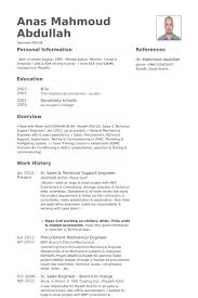 Resume Samples For Experienced Mechanical Engineers by Technical Support Engineer Resume Samples Visualcv Resume