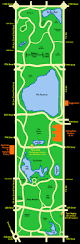 Central Park New York Map by Central Park Map Central Park Sunset Tours