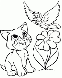 cat and dog coloring page cute dog coloring pages printable dog