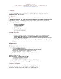 resume format for marketing professionals resume restaurant resume