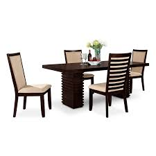 Brown Dining Room Table Shop 5 Piece Dining Room Sets Value City Furniture