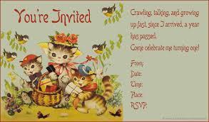 1st Year Baby Birthday Invitation Cards Vintage Birthday Invitations Plumegiant Com