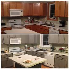 before and after painting my kitchen cupboards with annie sloan