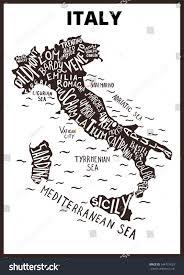 Tuscany Map Italy Map Silhouette Regions Names Tuscany Stock Vector 544727629