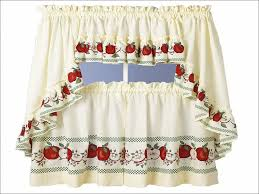 Tuscan Style Kitchen Curtains by Kitchen Country Style Kitchen Curtains Strawberry Kitchen