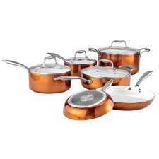 black friday ceramic cookware gourmet living 10 piece ceramic cookware set with copper finish