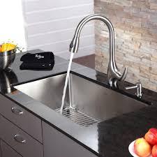 Kitchen Sink With Faucet Set Stainless Steel Kitchen Sink Combination Kraususa Com
